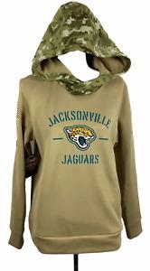 Women's Nike Dri-Fit NFL On Field Salute to Service Jax Jaguars Hoodie Sz L  NWT