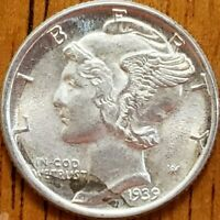 1939 Mercury Dime Uncirculated **Check it Out** #AA176-8