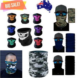 Bandana Head Scarf Face mask Shield Neck Tube Headwear Fishing Neck Gaiter AU