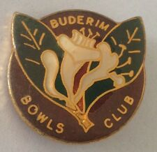 Buderim Bowling Club Badge Native Flower Design Rare Vintage (L1)