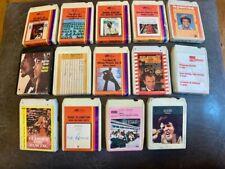 Sammlung 15 Atlantic Cassetten Lear 8 Track Cartridge 60er - 70er Jahre Original