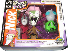 Invader Zim & Gir Figures - DAMAGED BOX - Old Man & Doggie Suit - Palisades Set