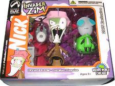 Invader Zim & Gir Figures - DAMAGED BOX - Old Man & Doggie Suit - Palisades Set