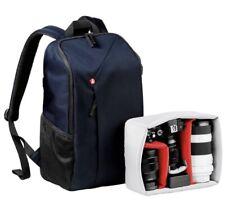 Manfrotto NX-BP-BU DSLR Camera/Drone Ipad Pro Backpack Blue Black BRAND NEW