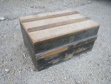 Ancienne boite en bois coffret de rangement déco atelier garage usine old box