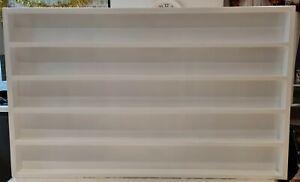 Wall mounted wood nail polish rack 100X60cm  10cm space between shelfs