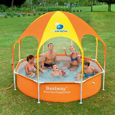 Splash-in-Shade Play Pool Above Ground Wading Pool with Sunshade