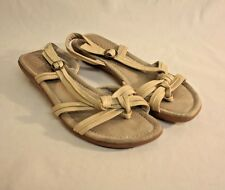 Bare Traps Womens Ladies Beige Leather Sandals Shoes Size 10M