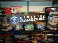 """Nintendo GameCube Display, Game Cube Aluminum Sign, 6"""" x 24""""."""