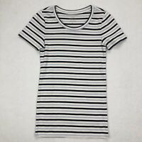 J Crew Women's Perfect Fit Short sleeve t-shirt Top Size S Striped