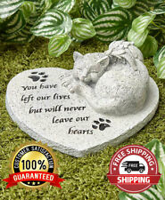 Paw Prints Pet Cat Memorial Cemetery Grave Marker Tomb Stone Statue Garden New