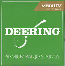Deering 5-String Banjo Strings Medium Gauge Loop Ended