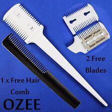 3HAIR SHARPER THINNING LAYERER SHAPER CUTTING PLASTIC COMB BARBER HAIRDRESSING