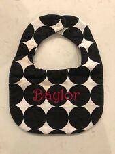 "Moonbeam Baby personalized name ""Baylor� Black Red White Bib ��"