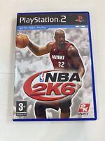 NBA 2k6 PlayStation 2 Game 3+ Basketball With Manual