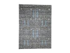 "9'x12'5"" HandKnotted Cypress Tree Design Silk with Oxidized Wool Rug G46169"