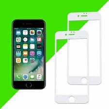 2x 3D Displayschutz Panzerglas für iPhone 6S 6 4,7 Full Cover Echt Glas 9H Weiss