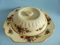 Antique Adams Royal Ivory Titian Ware Lidded Tureen, Art Deco Ceramic Tureen