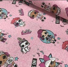 "Fabrics  LOL Dolls / Tissu ""LOL"" Poupées  Coton 100% Popeline"