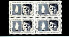 John F Kennedy Eternal Flame 1964 Mint NH Block of Four Stamps #1246 JFK