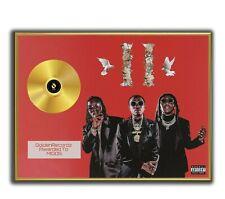 Migos Poster, CULTURE II GOLD/PLATINIUM CD, gerahmtes Poster HipHop Rap WallArt