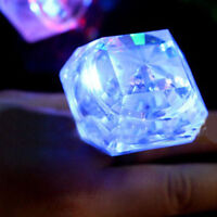 Party Night Accessories Large Flashing Diamond Ring Novelty Gift~~-