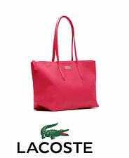 Lacoste L1 Large Shopping Bag with 25CM Drop in Virtual Pink #NF0648PO NWT
