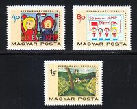 Hungary 1968 MNH Sc 1934-1936 Art of Pioneers.Childrens drawing Communist art **