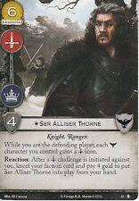 3 x Ser Alliser Thorne AGoT LCG 2.0 Game of Thrones The King's Peace 45