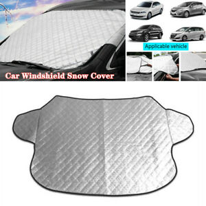 Car Windshield Cover Sun Shade Winter Snow Ice Dust Frost Guard Protector Silver