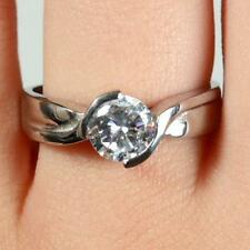 Engagement Ring Ladies Womens Girls Cubic Zirconia Crystal Wedding Wholesale NEW