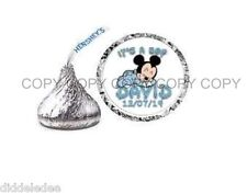108 Mickey Mouse Baby Shower Hershey Kiss Label Sticker Favors Personalize