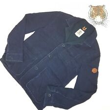 TIMBERLAND Mens size M Dark Navy Blue Ribbed Style Button Front Vintage Jacket