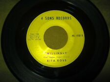 Rita Ross - I Cried For You / Willingly - Rare 4 Sons 45 RPM - VG - Plays Nice