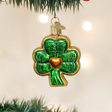 """Old World Christmas St Patrick's Day """"Shamrock"""" Glass Ornament  ~  FREE SHIPPING"""