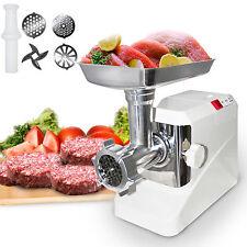 Electric Meat Grinder Kitchen 2000 Watt Butcher Sausage Maker 3 Cutting Blades