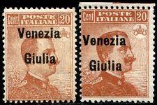 Occupazioni Venezia Giulia 1918/19 n. 23eb ** varietà (m2343)