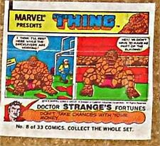 TOPPS 1979 BUBBLE GUM COMIC 8 MARVEL PROMO THING RARE