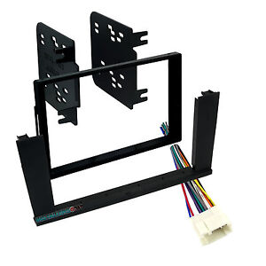 95-7863 Double Din Radio Install Dash Kit & Wires for Element, Car Stereo Mount