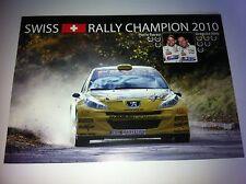 CP POSTCARD CARTOLINA PEUGEOT 207 HOTZ RALLY RALLYE WRC 2010