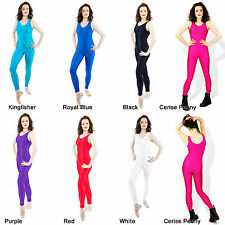 Catsuit Dance Ballet Childs Womens Adults Shiny Nylon Lycra Catsuits Dancewear