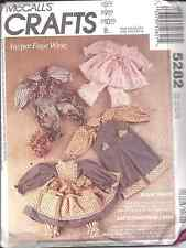 5282 UNCUT McCalls Sewing Pattern Clothes for Country Rabbits # 3760 Faye Wine