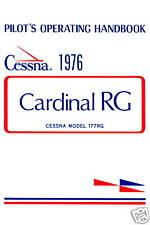 CESSNA 177 CARDINAL RG - PILOT'S OPERATING HANDBOOK
