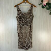 Express Sleeveless Lace Ruched Cocktail Evening Dress Women's Size 12 Bronze