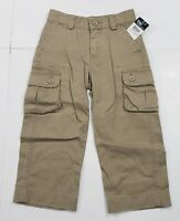 New with tag NWT Boys RALPH LAUREN Khaki Brown POLO Chino Carpenter Pants 3T