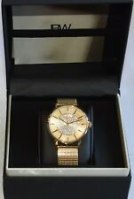 **30% DISCOUNT! BNIB JBW 'Belle' Women's DIAMOND 18K yellow gold plated watch