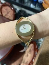Calvin Klein K1A2391G Delight MOP Dial Gold Tone Stainless Steel Ladies Bangl...