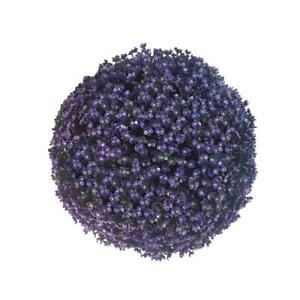 Artificial Lavender Lush Long Leaf Topiary Flower Ball Basket Plant Hanging G9Q1