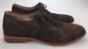BANANA REPUBLIC 'Taylor' Cap Toe Suede Leather Oxford Dark Roast Brown Mens 10 M