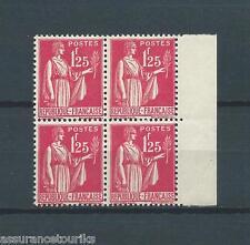 TYPE PAIX - 1937 YT 370 bloc de 4 - TIMBRES NEUFS** LUXE